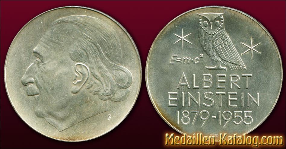 Albert Einstein 1879-1955 E = m·c² | Gold & Silber Medaille Münze Gedenkmedaille Gedenkmünze